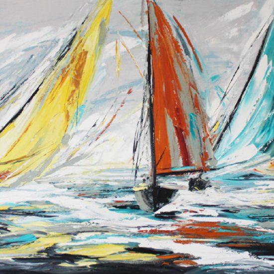 """Le tournant - 24"""" x 48"""" - Manon Tétreault artiste peintre"""