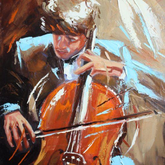 "Vibration - 28"" x 22"" - Manon Tétreault artiste peintre"