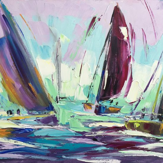 "Liberté 18""x 36"" - Manon Tétreault artiste peintre"
