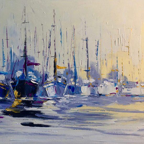 """Halte - 18"""" x 36"""" - Manon Tétreault artiste peintre"""