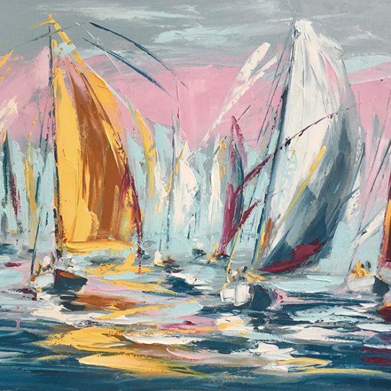 """Rendez-vous matinal - 23"""" x 30"""" - Manon Tétreault artiste peintre"""