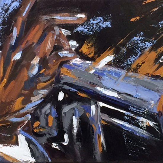 Nostalgie - 12x36 - Manon Tétreault artiste peintre