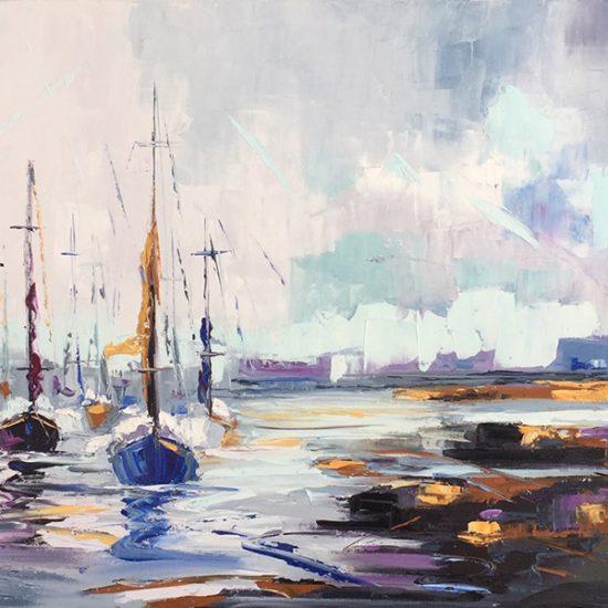 À tribord - 18x36 - Manon Tétreault artiste peintre