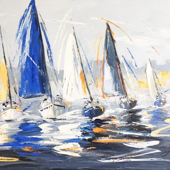 Éclat sur mer - 30x36 - Manon Tétreault artiste peintre