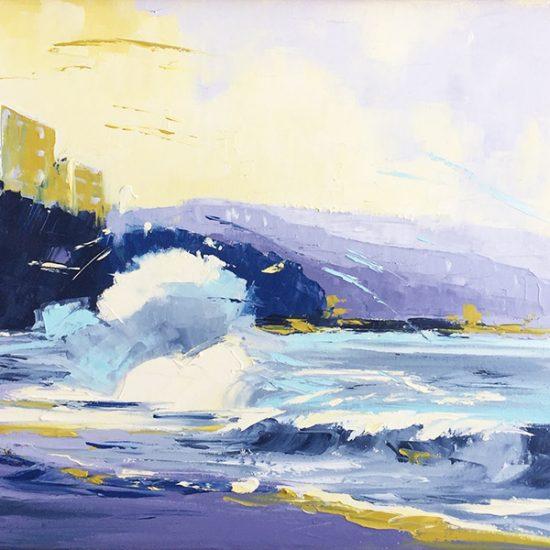 Un air salin - 20x24 - Manon Tétreault artiste peintre
