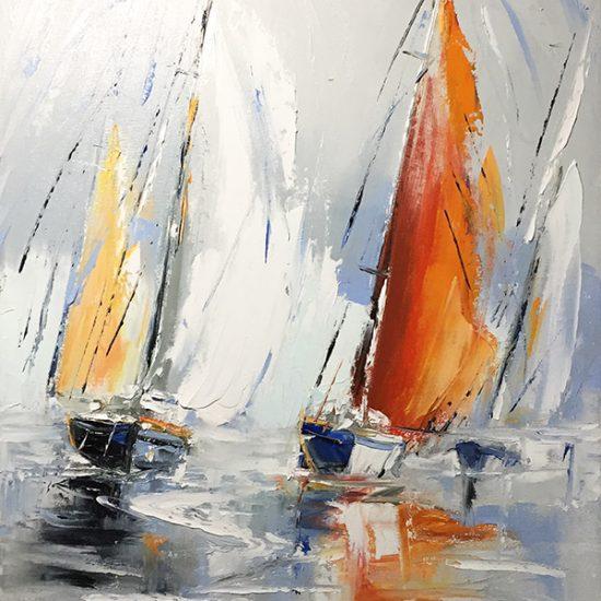Béatitude - 18x14 - Manon Tétreault artiste peintre