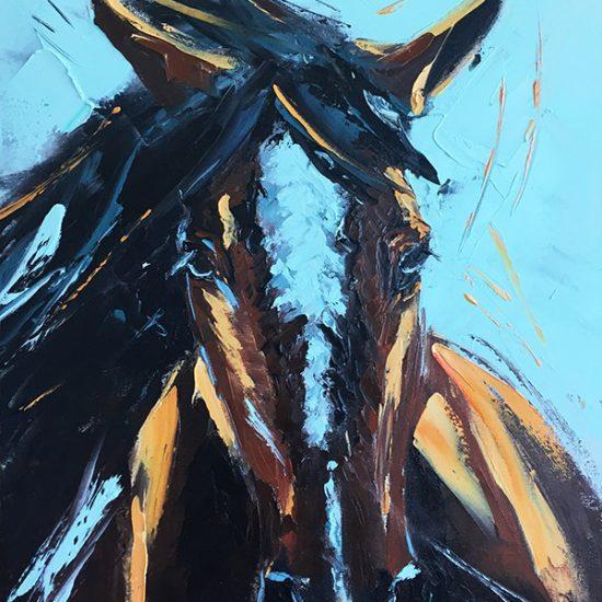 Le bienveillant - 18x14 - Manon Tétreault artiste peintre