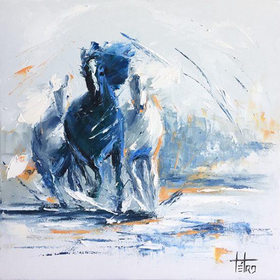 Les inséparables - 16x16 - Manon Tétreault artiste peintre