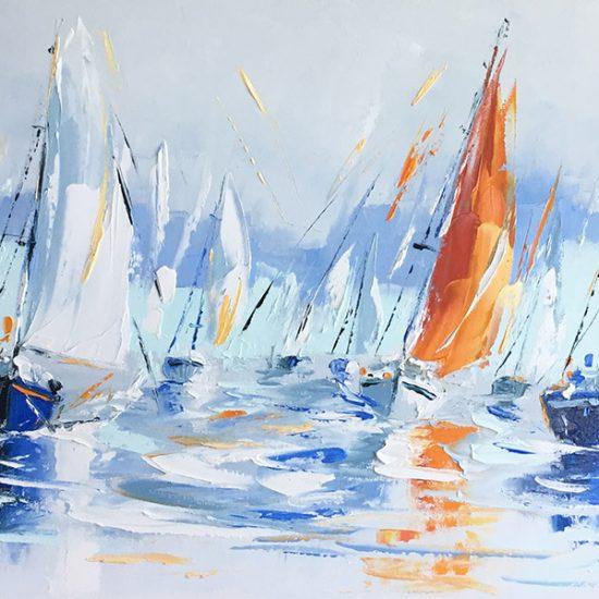 Paradis sur mer - 18x36 - Manon Tétreault artiste peintre
