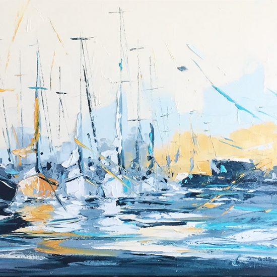 Repos de l'équipage - 18x36 - Manon Tétreault artiste peintre