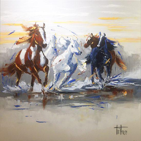 La danse de l'amour - 30x30 - Manon Tétreault artiste peintre