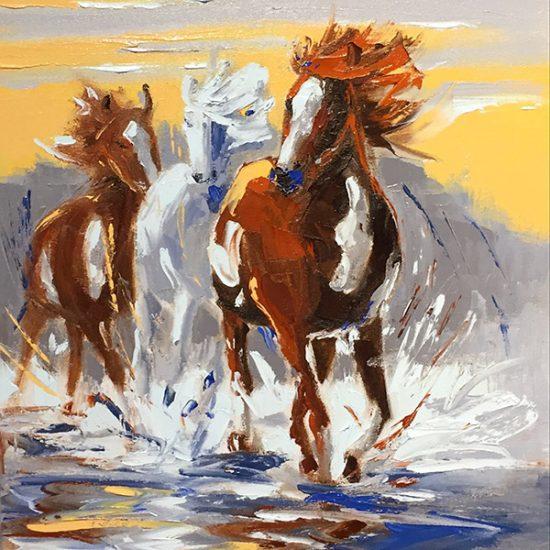 La relève - 18x14 - Manon Tétreault artiste peintre