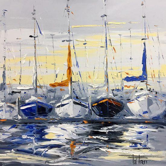 Les passants - 24x24 - Manon Tétreault artiste peintre