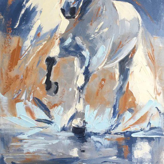 Mon beau solitaire - 30x15 - Manon Tétreault artiste peintre