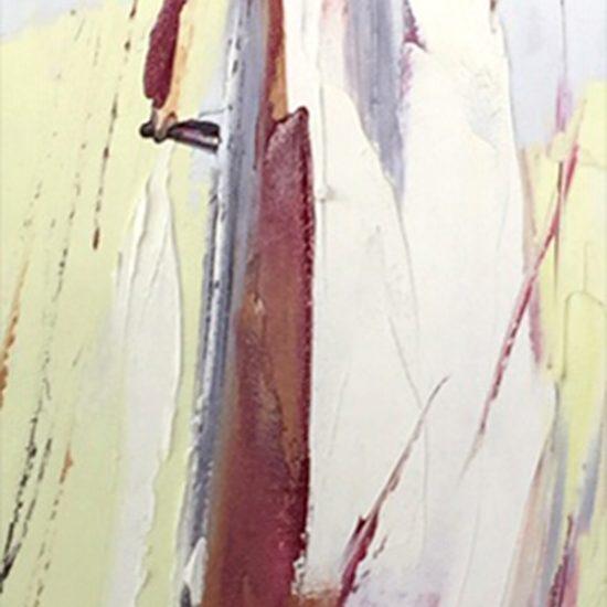 Le grand départ - 48 x 10 - Manon Tétreault artiste peintre