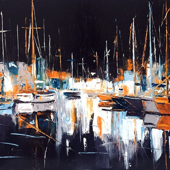 Lueurs nocturnes - 24 x 36 - Manon Tétreault artiste peintre