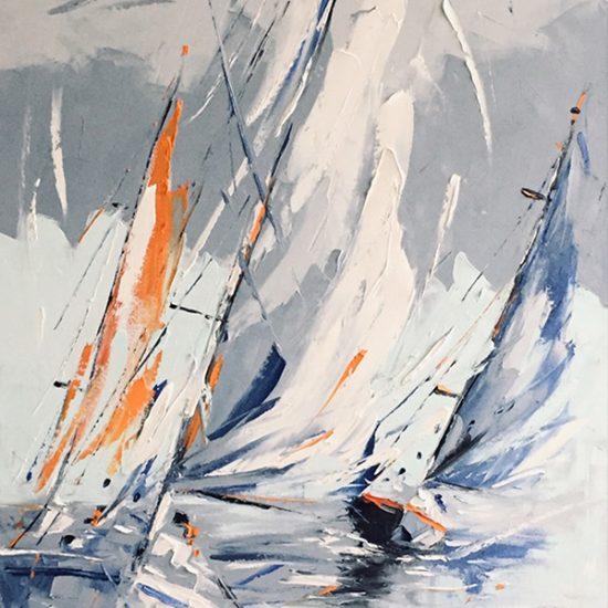 Outrance - 48 x 24 - Manon Tétreault artiste peintre