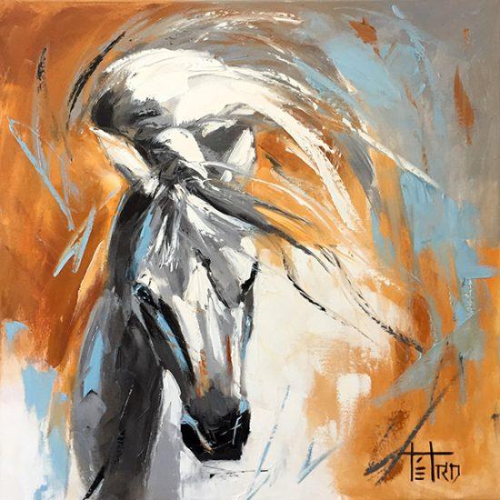 L'envolee d'un joli papillon - 24x24 - Manon Tétreault artiste peintre