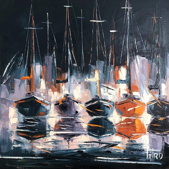 De l'ombre à la lumière - 24 x 24 - Manon Tétreault artiste peintre