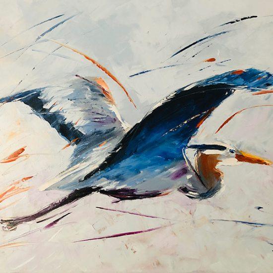 Les ailes du bonheur - 22 x 28 - Manon Tétreault artiste peintre