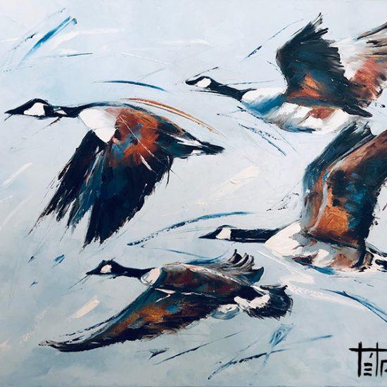 Les quartes éclaireurs - 30 x 36 - Manon Tétreault artiste peintre